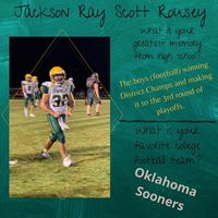 Jackcon Ray Scott Rousey Senior Highlight