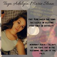Taya Adalysa Marie Sloan Senior Highlight